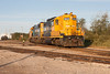 GP9 1603 and GP38-2 1801 in Moosonee 2006 August 26th.
