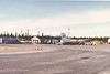 Roll 131: Moosonee airport, view towards old terminal. Air Creebec DHC-8 in picture along with MNR aircraft.
