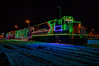 Ontario Northland Railway Christmas Train in Moosonee 2016 December 15th. Train from front. HDR efx default.