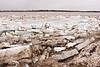 Ice along shore in Moosonee