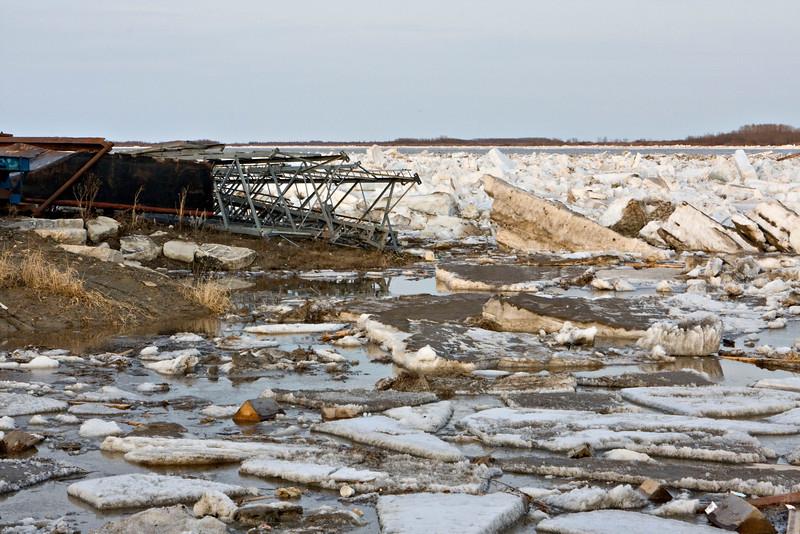 Ice along the shore near end of Revillon Road North