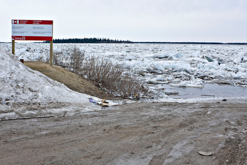 Road leading to public docks, Butler Island in background