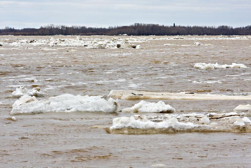 Ice floating away