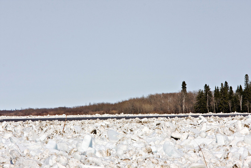 Open water at the north end of Butler Island as seen from Moosonee 5pm April 24th