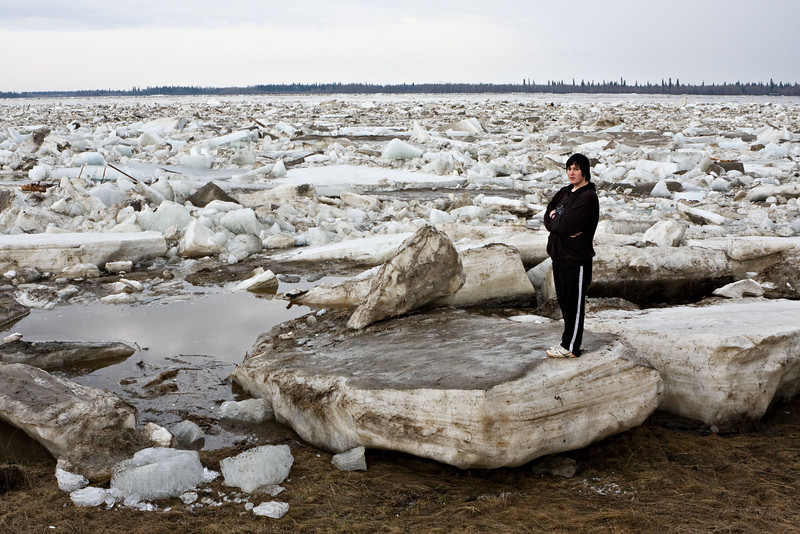 Stranded ice floes