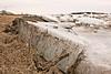 Ice on the Moose River at Moosonee in front of Moosonee Lodge