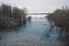 View from Ferguson Road bridge towards mouth of Store Creek in Moosonee