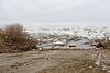Road to public docks in Moosonee