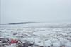 Looking across the broken ice towards Butler Island.