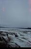 Ice chunks along the shoreline.