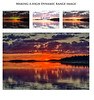 The making of a high dynamic range image. Thumbnails of dark, light and normal images and HDR final product. Moosonee sunrise 2016 August 18th.