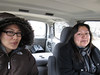 staff lawyer and Patricia Faries in taxi on way to airport