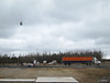 Helicopter operaitons in Moosonee: slinging goods to Moose Factory.