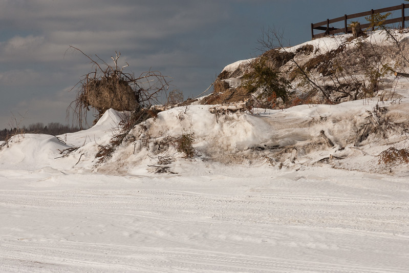 Tip of Charles Island. Frence still standing. Erosion evident. 2007 March 11th.