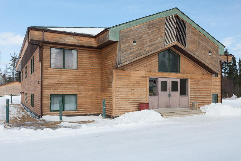 Mocreebec building, Moose Factory, entrance. 2007 March 11th.