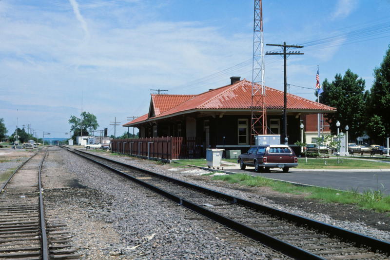 Mopac 248 - May 22 1987 - Depot at Sallisaw OK