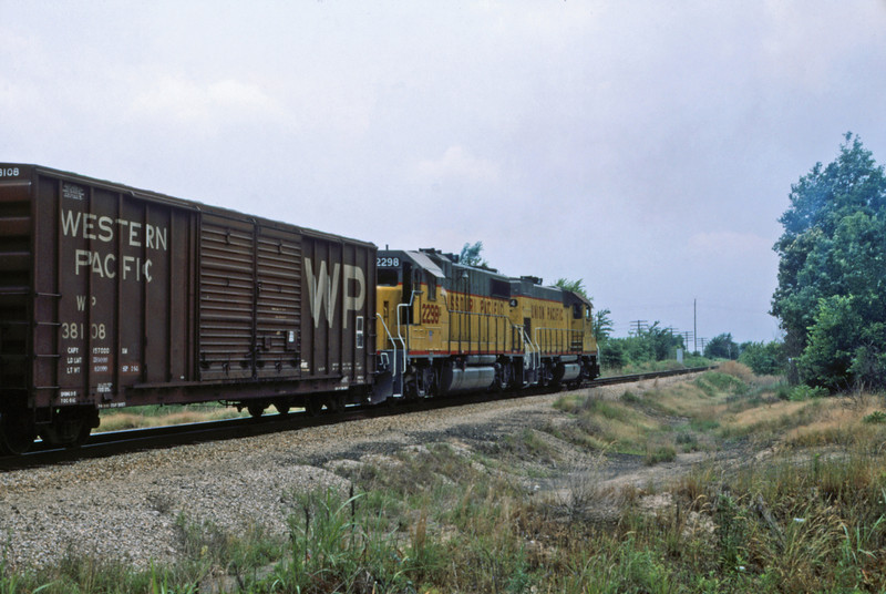 Mopac 243 - May 23 1987 - sb train near Ft Smith ARK