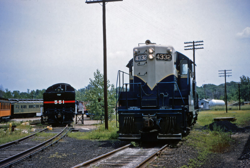 Mopac 120 - Jun 27 1955 - EMD GP-( No 4332 on train 91 at Barretts MO