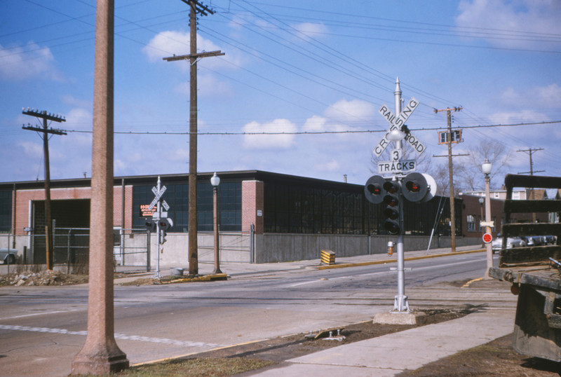 Mopac 100 - Mar 28 1955 - scene at Delmar St - St Louis MO