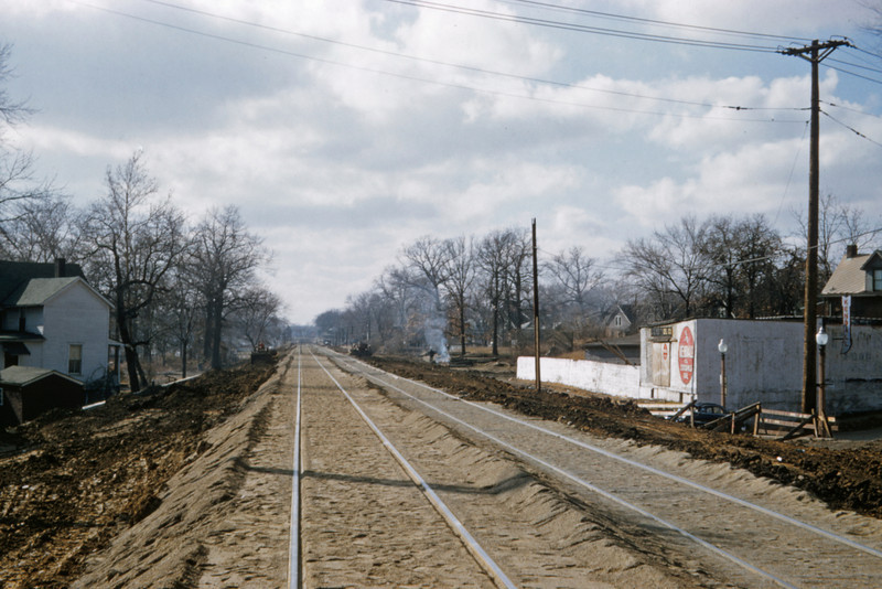 Mopac 170 - Nov 28 1957 - looking west on main at Southwest Ave - St Louis MO