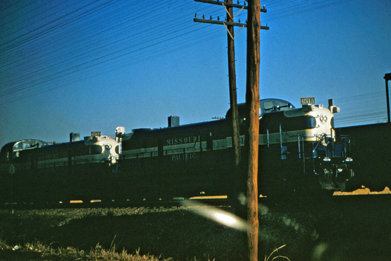 Mopac 87 - Feb 17 1955 - ALCO - GE switchers No 4511 & 4508 at Pacific MO