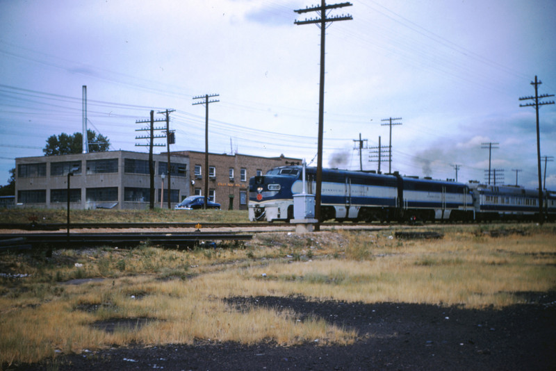 Mopac 3 - Aug 1 1954 - No 15 Alco GE powered @ Maclind & Manchester St Louis MO