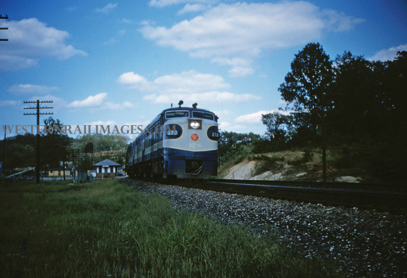 MOPAC 14 - Aug 30 1954 - Alco GE no 378 westbound Barretts MO