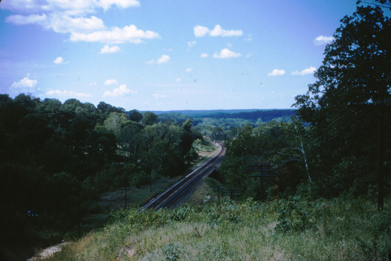 MOPAC 10 - Aug 23 1954 - View from top of West Barretts tunnel toward Valley Park MO