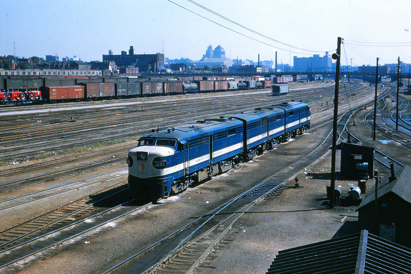 Mopac 143 - Sep 24 1956 - Alco GE + B & A Unit @ Ewing Ave  Engine Terminal St  Louis Mo