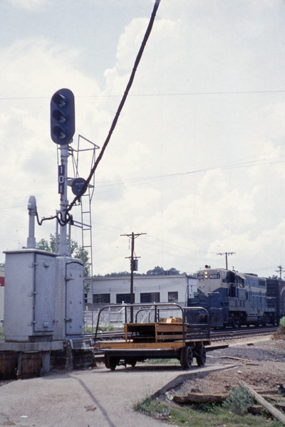 Mopac 126 - Jul 4 1955 - EMD GP 7 No 4281 at Webster Groves MO