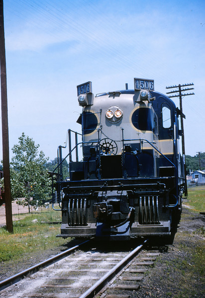 Mopac 115 - Jun 2 1955 - Alco GE road switcher 4506 at Barretts MO Train 91