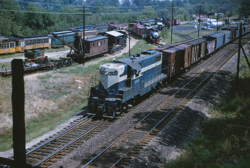 Mopac 7 - Aug 9 1954 - EMD GP-7 No  4169 train 91 @ Barretts MO