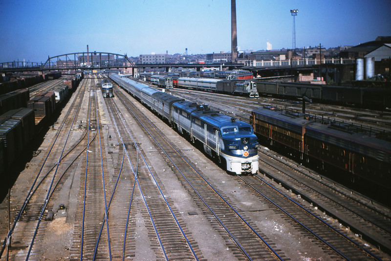 Mopac 17 Sept 2 1954 - Alco GE No  8002 @ 14th St  St  Louis
