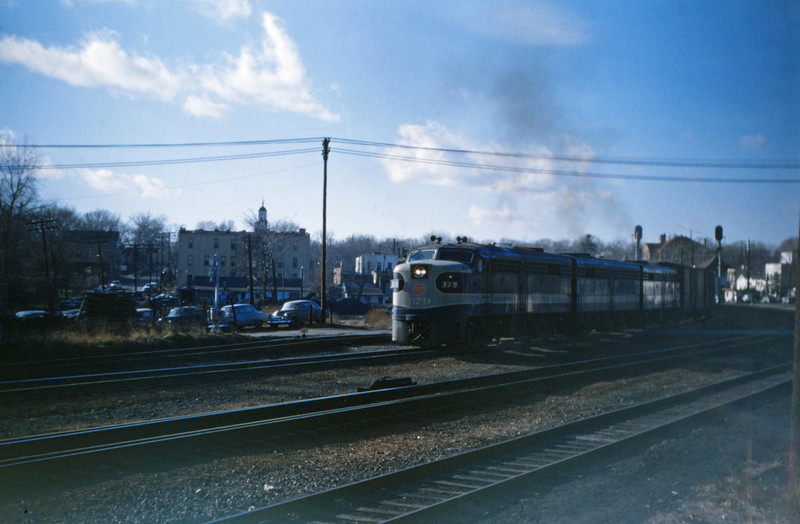 Mopac 74 - Dec 9 1954 - Alco - GE No 379 at Kirkwood MO