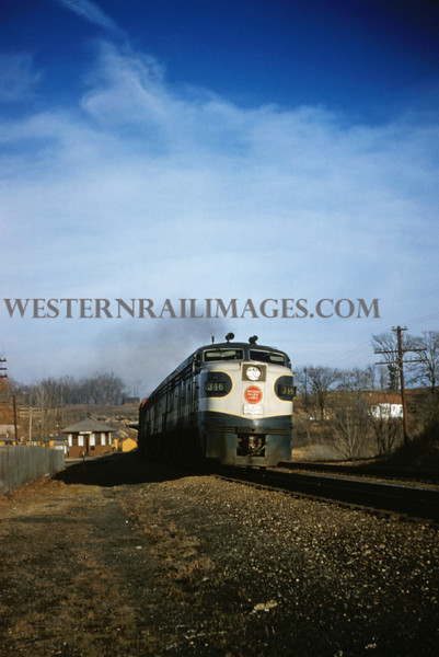 MOPAC 129 - Dec 27 1955 - Alco GE no 346 + B + A wb at Barretts MO