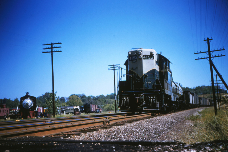 MOPAC 11 - Aug 30 1954 - EMD GP 7 no  4193 on train 91 at Barretts MO
