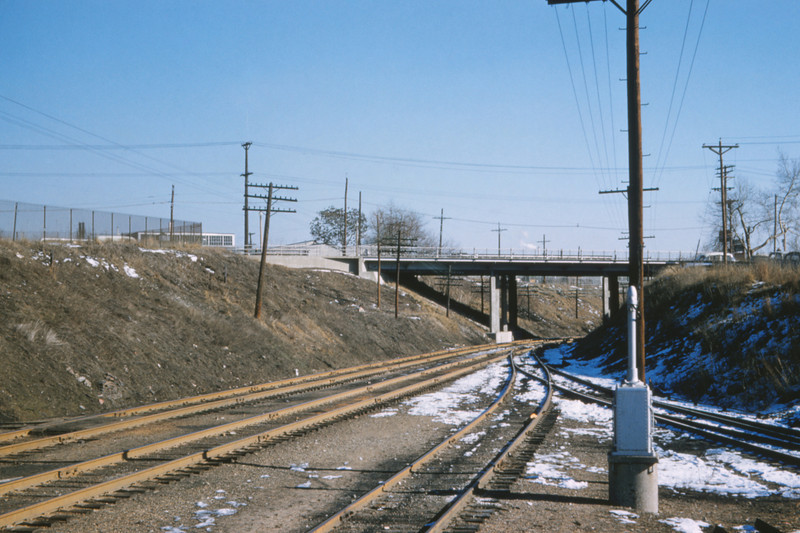 Mopac 183 - Feb 13 1958 - looking east at Morganford Rd - St Louis MO