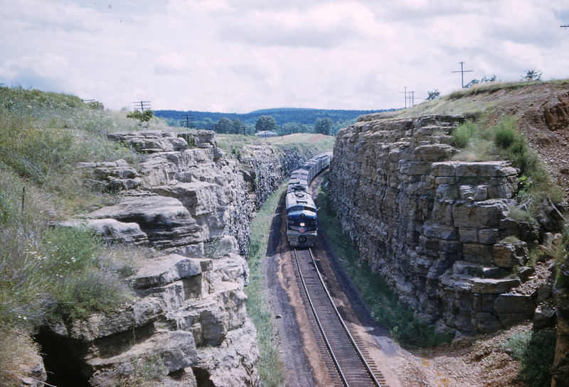 Mopac 202 - Jun 15 1958 - No 4 Engine 7019 @ Tip Top MO