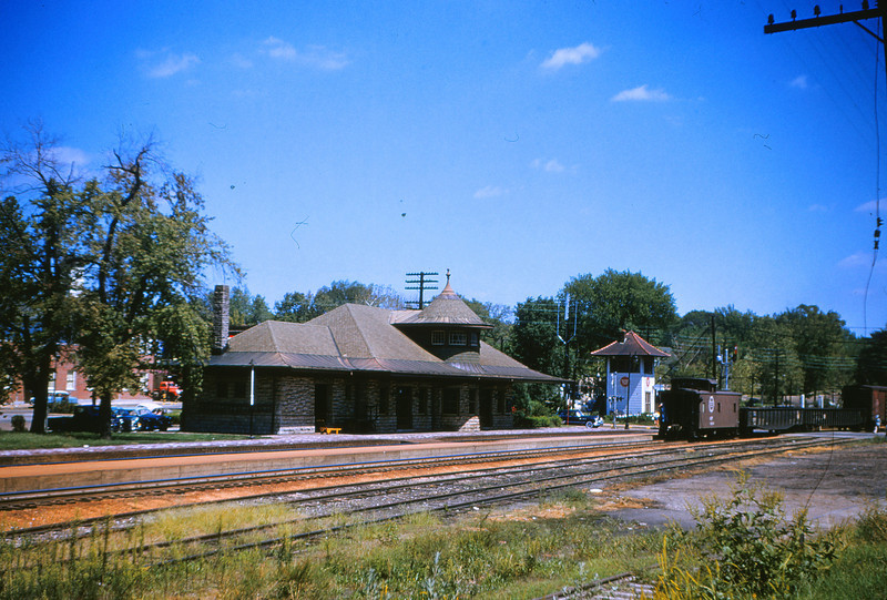 Mopac 13 - Aug 30 1954 - Kirkwood MO Station Looking East