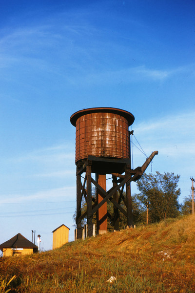 MOPAC 19 - Sep 4 1954 - Missouri Illinois Railroad water tank @ Evansville IL