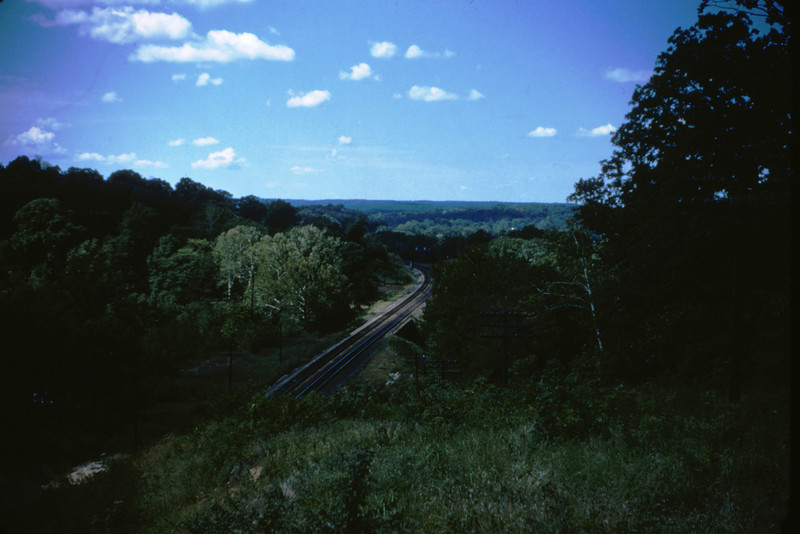 Mopac 9 - Aug 23 1954 - View toward Valley Park from top of west Barretts Tunnel MO