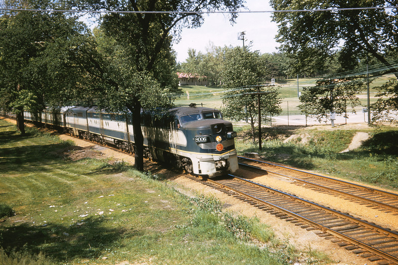 Mopac 197 - May 22 1958 - No  25 Southbound at Loughborough Ave  St  Louis Mo
