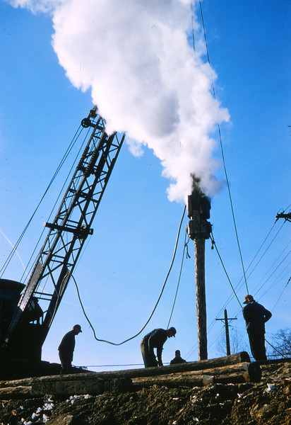 Mopac 191 - Feb 13 1958 - Steam Piledriver @ 1032 Southwest Ave  St  Louis MO