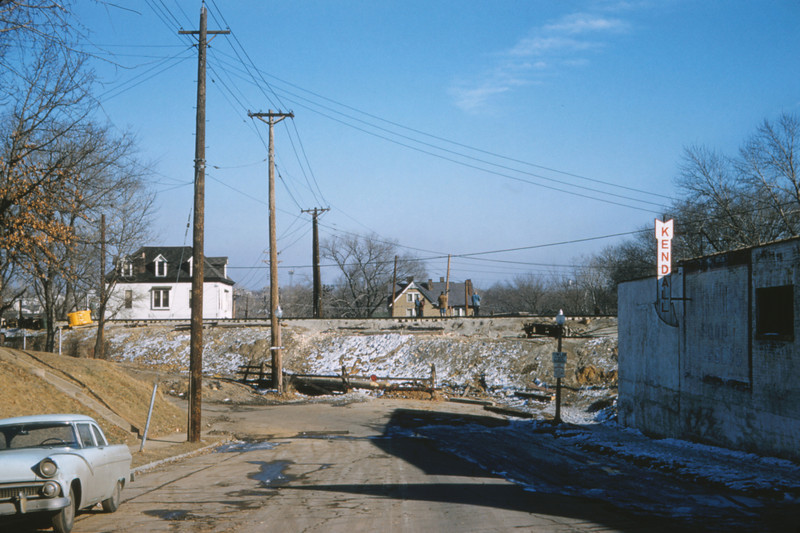 Mopac 184 - Feb 13 1958 - looking east at Southwest Ave - St Louis MO