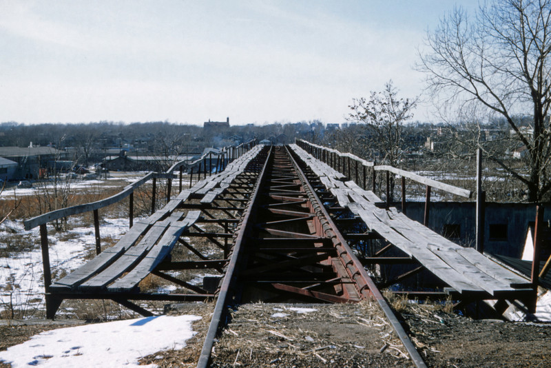 Mopac 182 - Feb 13 1958 - abandoned gravel dump on Oak Hill Div w of Morganford Rd - St Louis MO