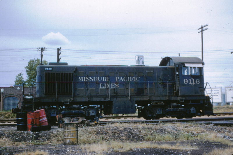 Mopac 2 - Aug 1 1954 - Alco GE switcher 9116 @ Macklind & Manchester St Louis MO