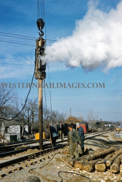 MOPAC 188 - Feb 13 1958 - steam pile driver x1032 Southwest Ave - St Louis MO