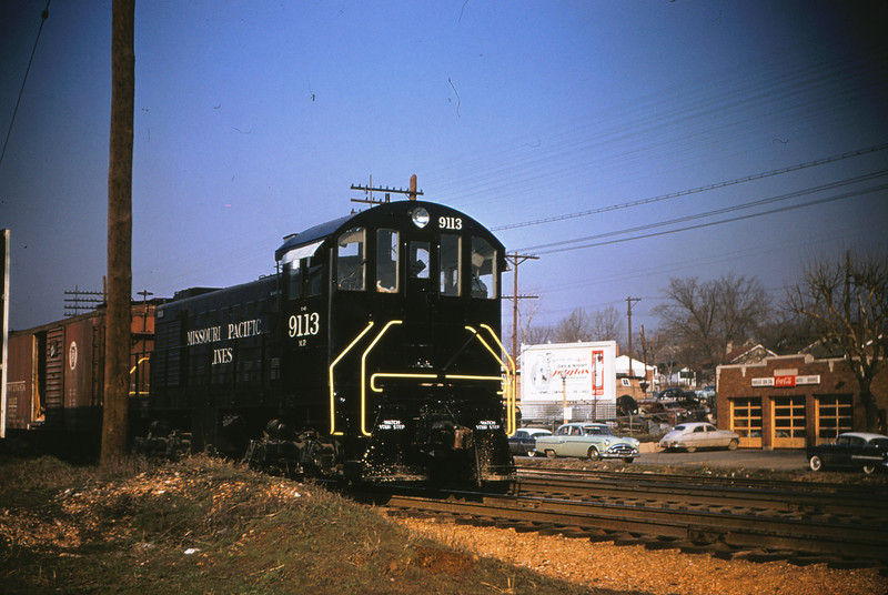 Mopac 13 - Mar 15 1956 - Alco GE No  9113 @ Knox Ave  St Louis