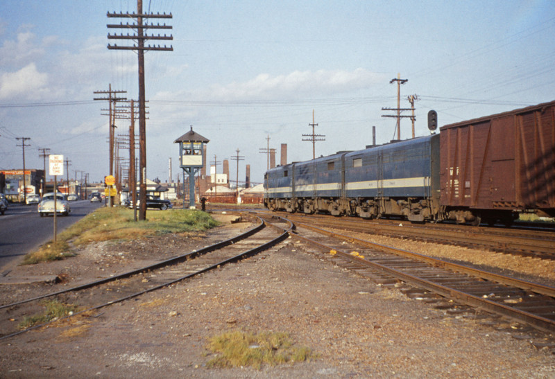 Mopac 125 - Jul 1 1955 - Alco GE freight at Macklind Ave St Louis MO