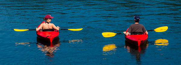 Kayaks on Walden Pond